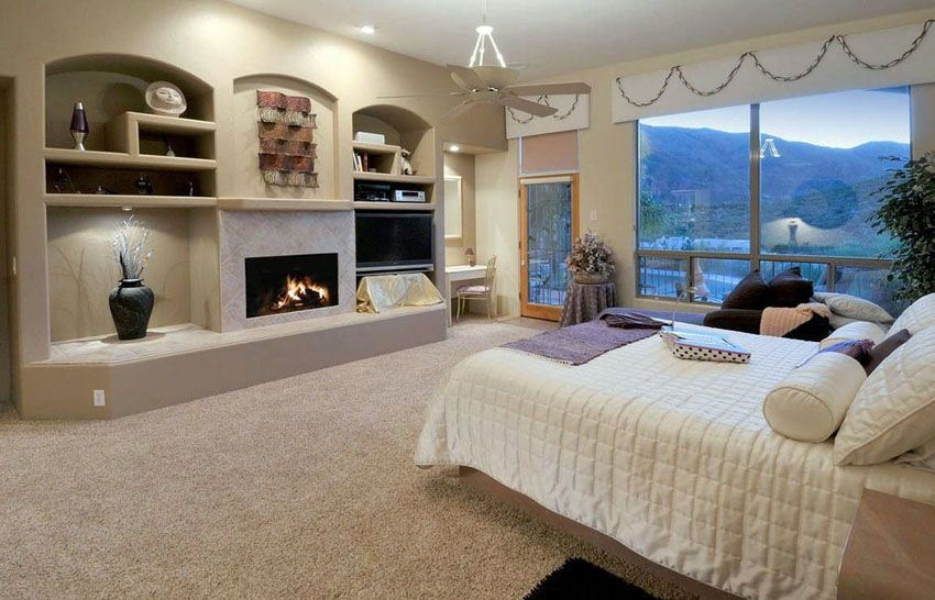 Luxury Master Bedrooms With Fireplaces Bedroom Fireplace Luxury