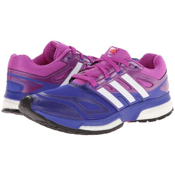 adidas Running Response Boost Techfit (Night Flash/White/Flash Pink)...  ($74) ❤ liked on Polyvore featuring shoes, athletic shoes, blue, running  shoes, ...
