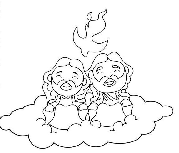 Holy Trinity Coloring Pages  CCD ideas  Pinterest  Coloring