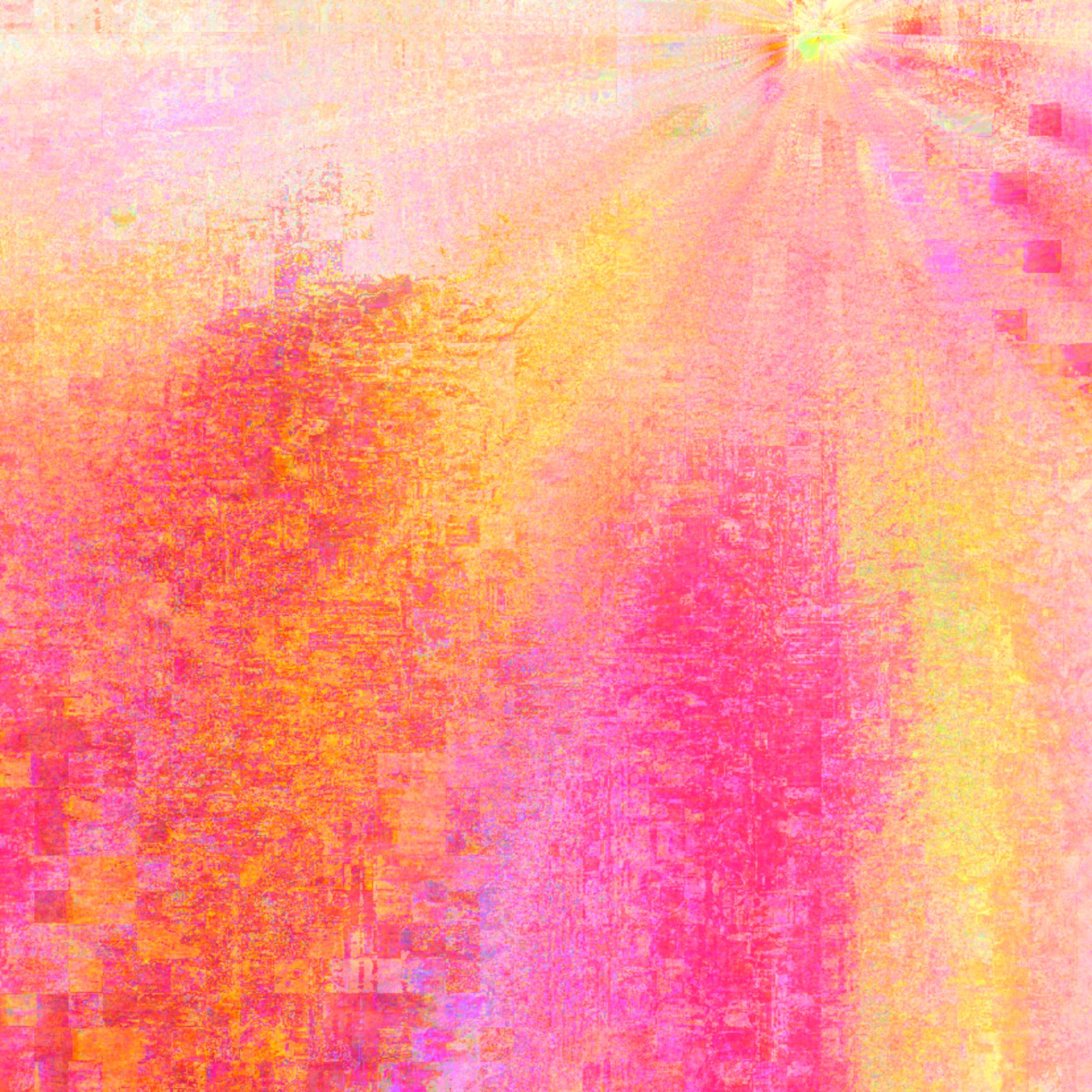 """""""Sunrise"""" 2015 30x30 mixed media by Theda Sandiford"""