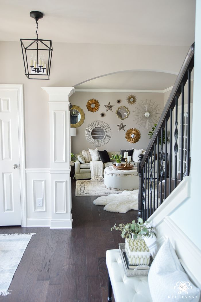 Updated foyer lighting before and after the darlana - Small home decor ideas ...