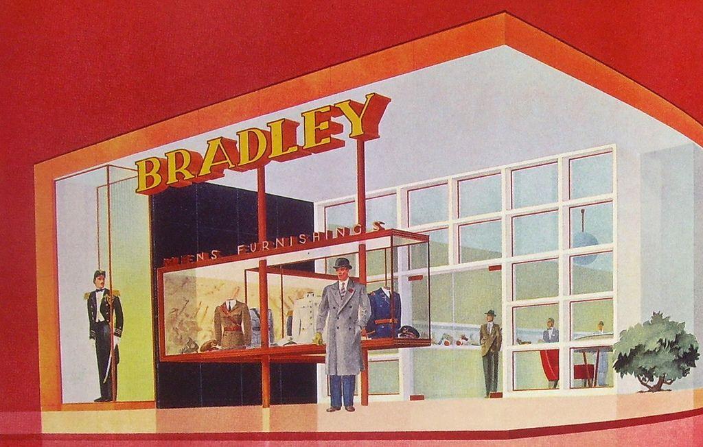 "https://flic.kr/p/3HariB | Bradley | Photo from the book ""Shop America-Midcentury storefront design"" edited by Jim Heimann and essay by Steven Heller."