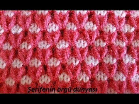 Açıklamalı İki Renkli Örgü Örnekleri   Youtube, Crochet and Patterns