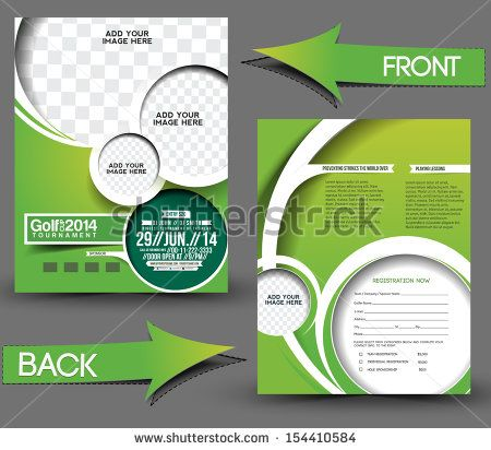 Golf Tournament Front  Back Flyer Template  Invitations