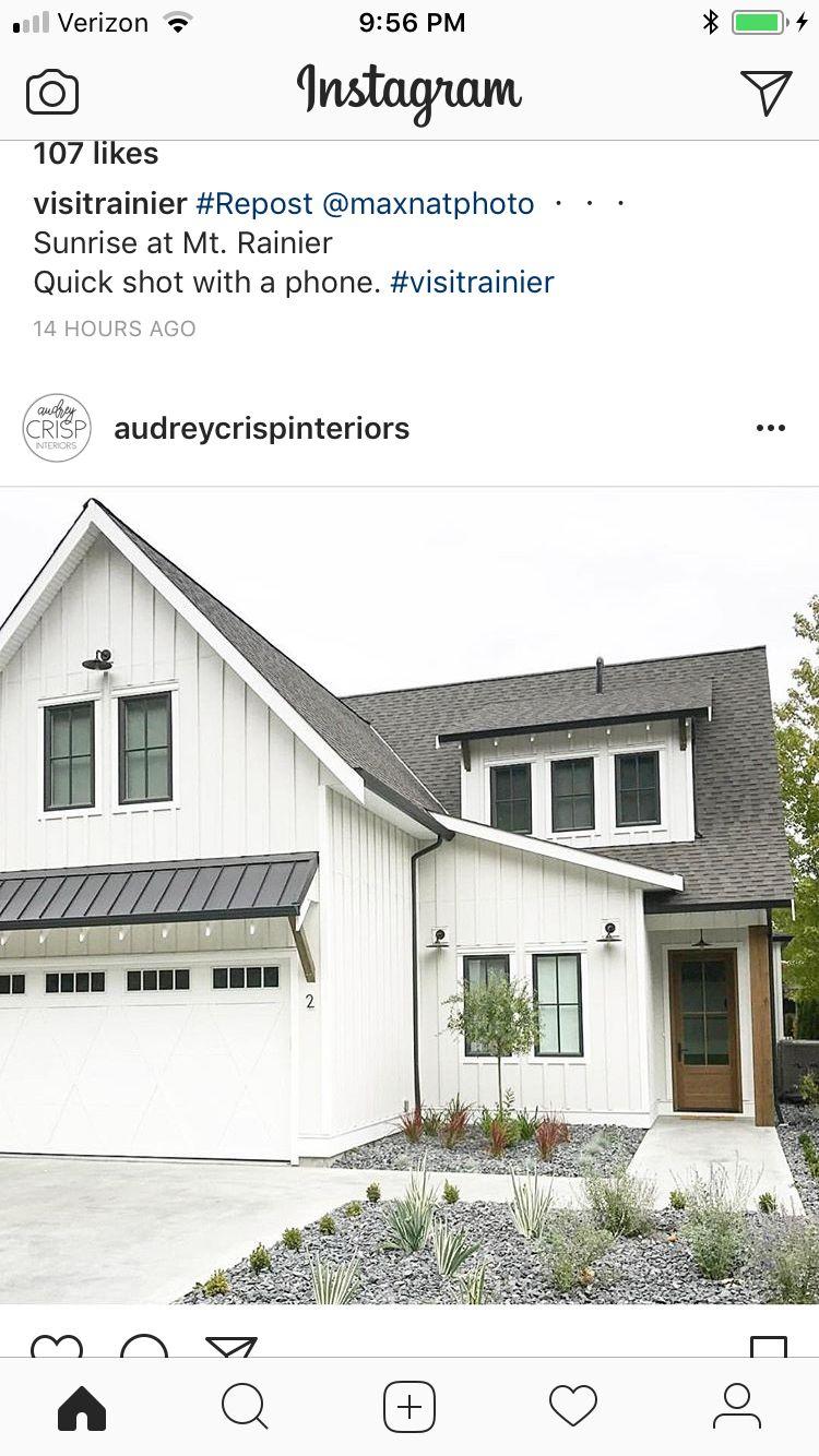 Best Metal Roof Accent Above Garage Doors Modern Farmhouse In 2019 Metal Garage Doors Garage 640 x 480