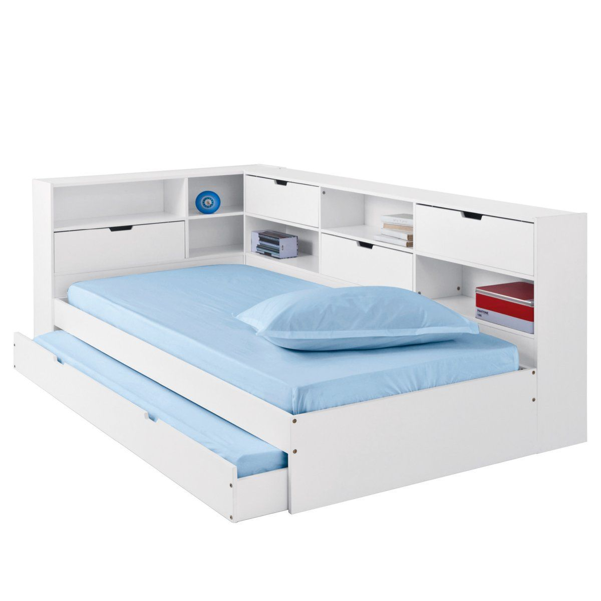 Matelas Mousse 140x190 2 Lit Gigogne 140x190 Avec Rangement Lit Gigogne Ikea Yourscoops Deco Bed Storage Drawers Trundle Bed With Storage Trundle Bed