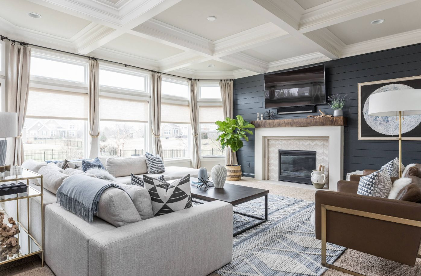 How To Make The Most Of A Shiplap Accent Wall Living Room Carpet