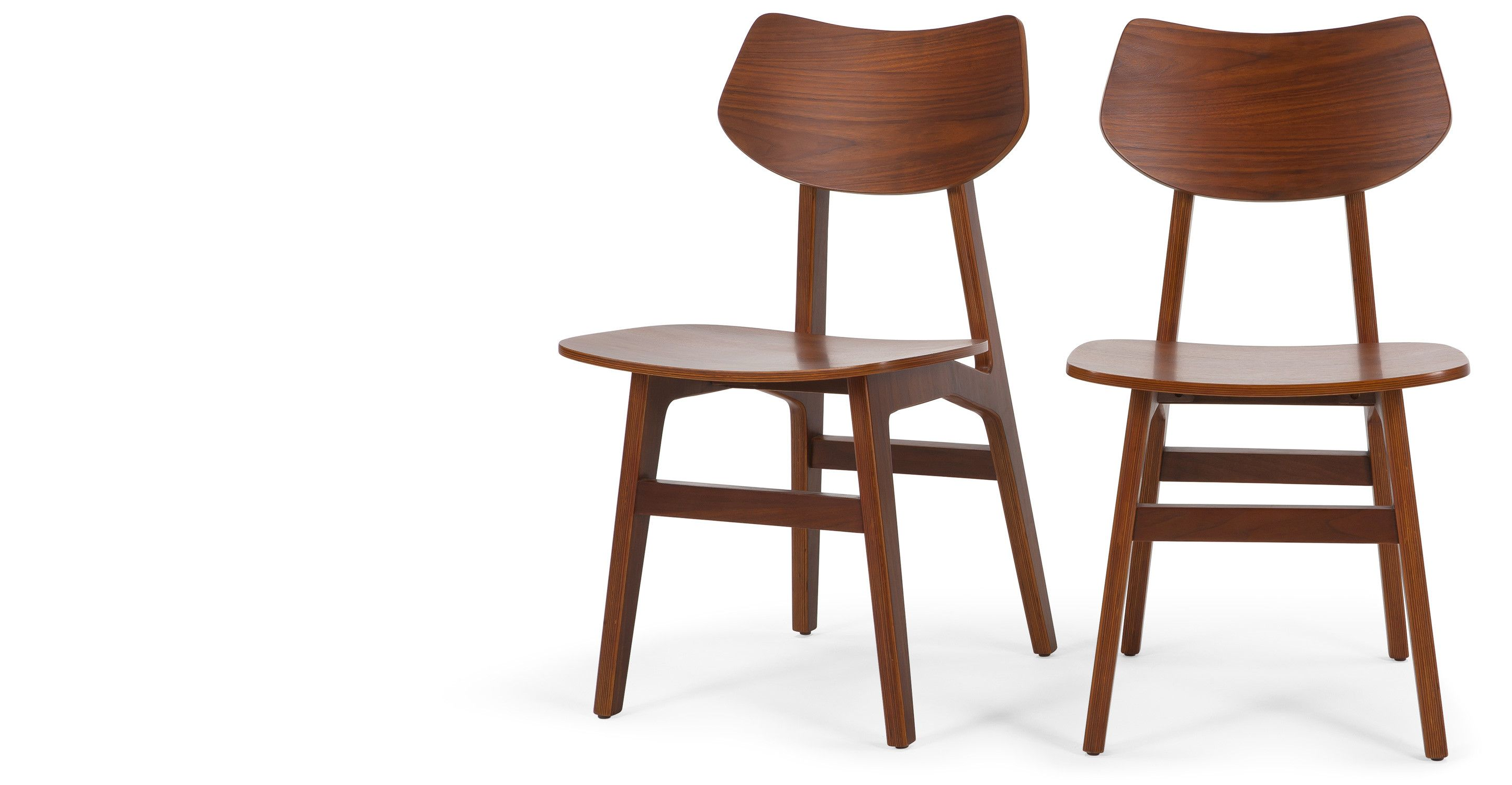 2 x Jacob Dining Chairs, Natural Walnut from Made.com. Dark Wood ...