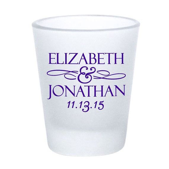 Wedding Favors Frosted Shot Glasses  Personalized by Factory21