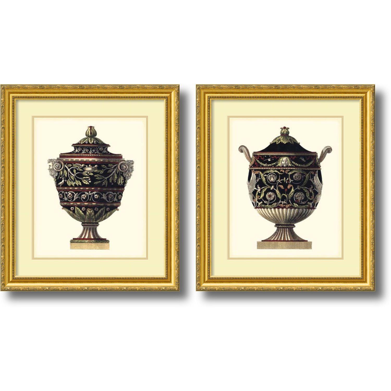 Da Carlo Antonini \'Antonini Clementino Urn I, IV- set of 2\' Framed ...
