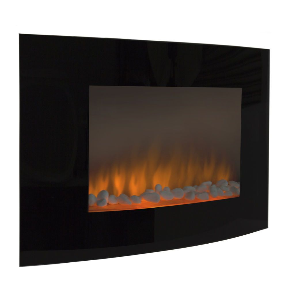 Large 1500w Heat Adjustable Electric Wall Mount Fireplace Heater