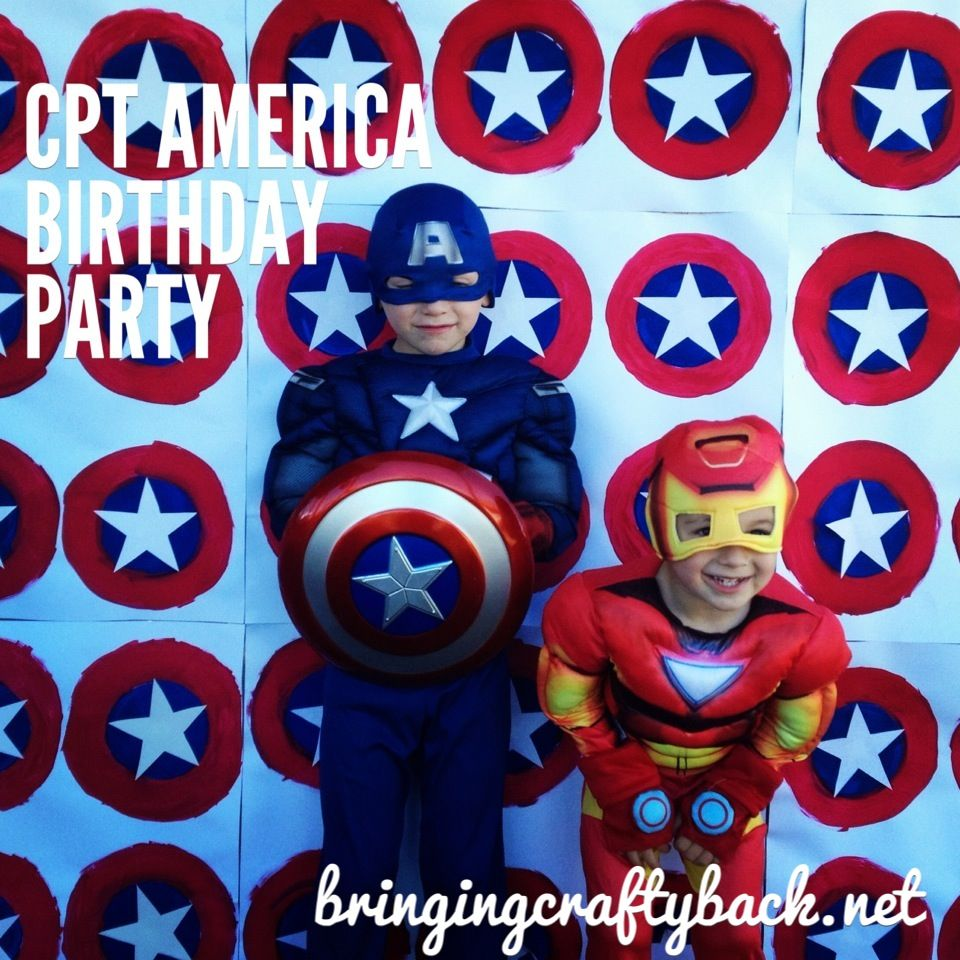 Captain America Birthday Party Cute Idea For A Wall Background Pictures With Miles