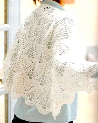 grand lacy pineapple shawl vintage crochet pattern