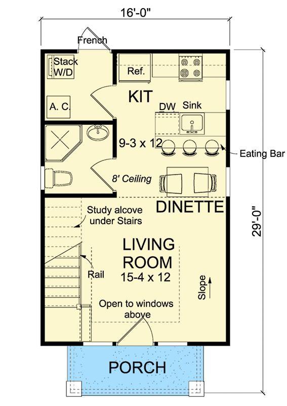 Tiny Cottage Or Guest Quarters House Plans Cottage