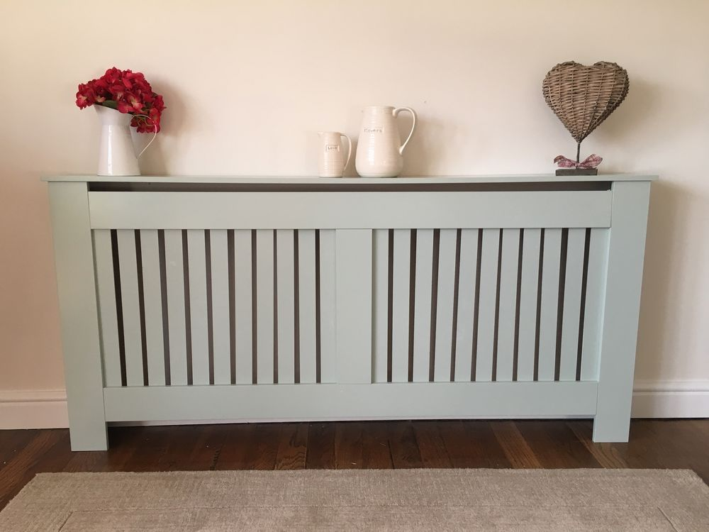 White Or Grey Painted Radiator Cover Vertical Bar Cabinet Wood MDF Modern