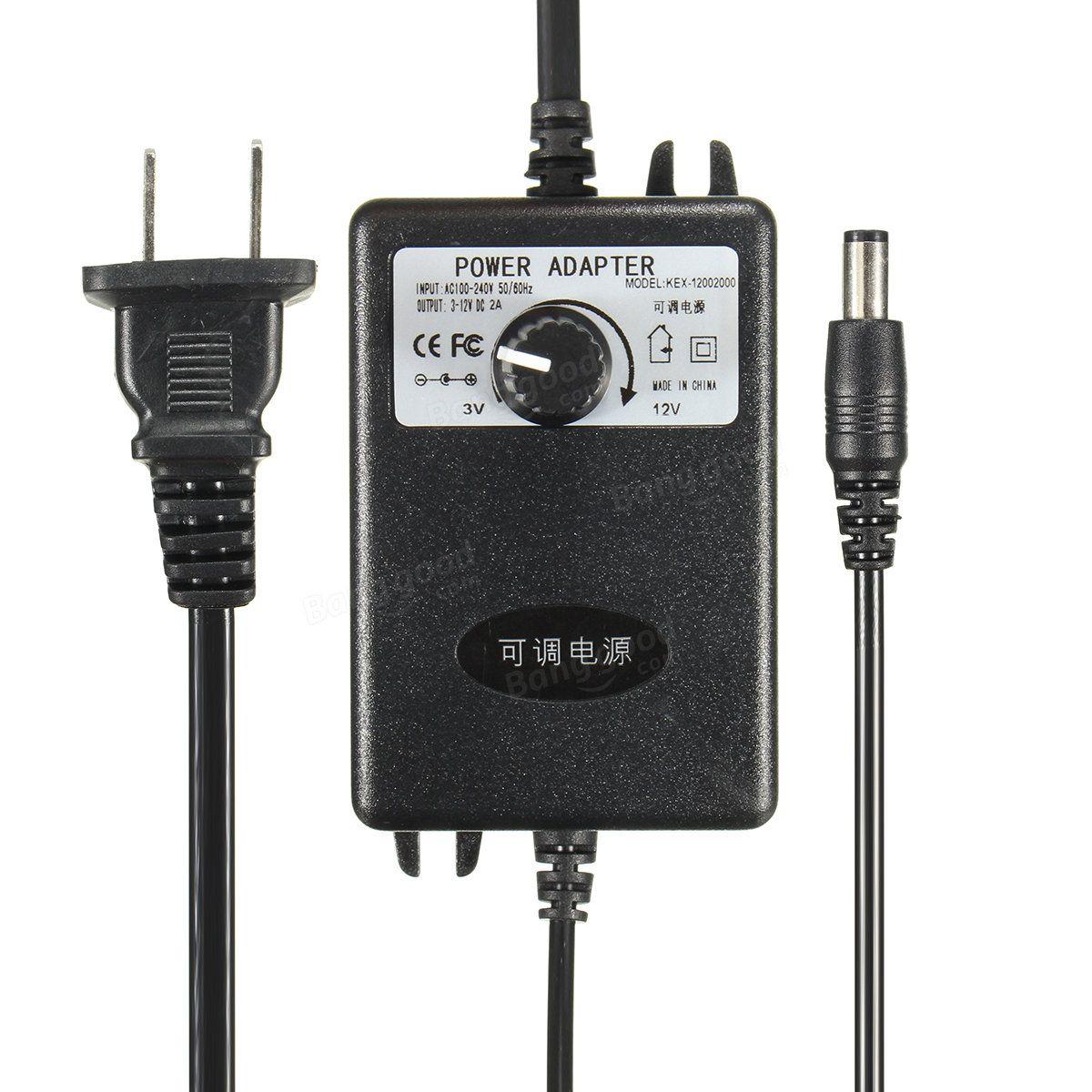 Adjustable AC/DC Adapter 312V 2A Power Supply Motor Speed