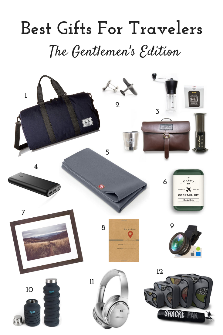The Absolute Best Gifts For Travelers - Gentlemen's Edition. Let this gift guide save the day! #giftguide #giftideas #holidaygifts #holidaygiftguide # ...