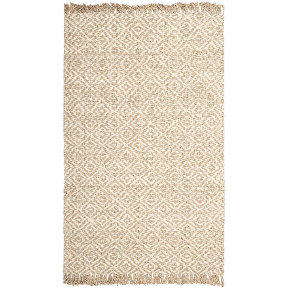 Safavieh Hand-woven Sisal Style Natural/ Ivory Jute Rug (10u0027 x 14