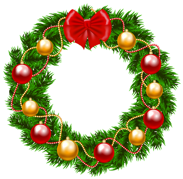 Christmas Wreath PNG Clipart Image Christmas wreath