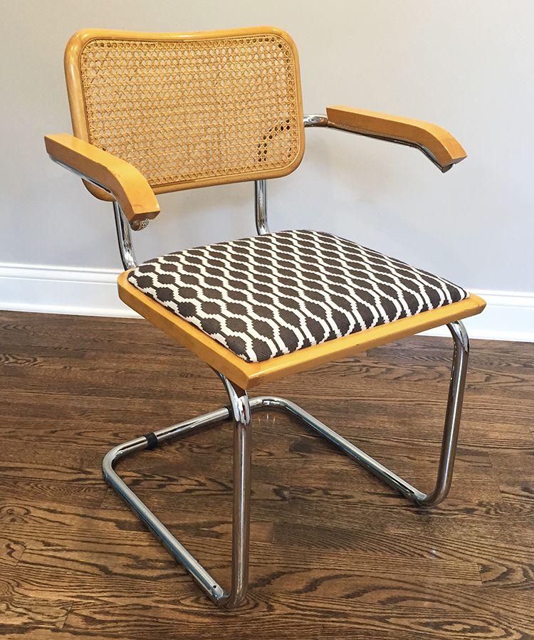 Breuer Chair Update / Upholstery DIY
