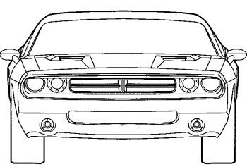 Dodge Challenger Coloring Page Dodge coloring pages Printables