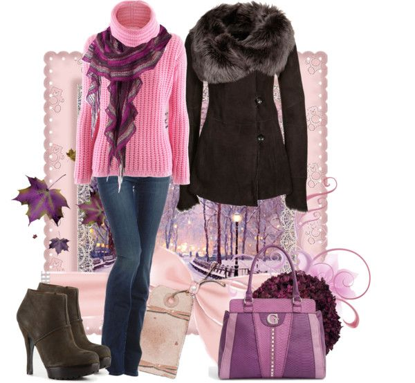 """Winter Pinks & Purples"" by ggulan ❤ liked on Polyvore"