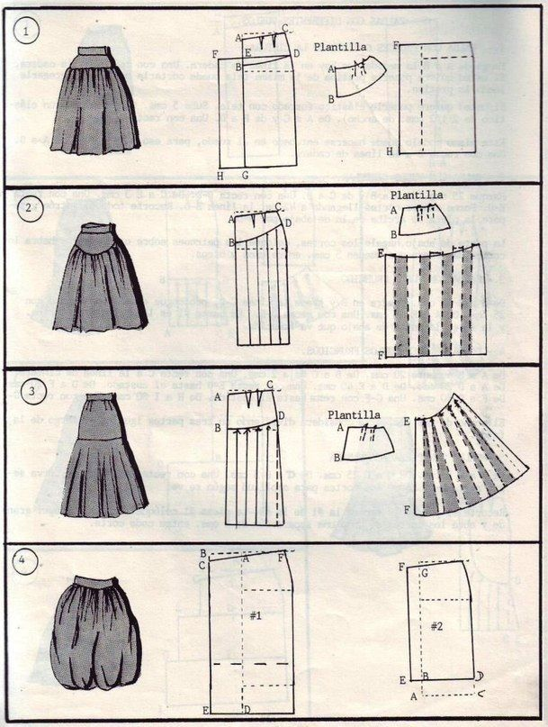 Sewing model DIY long skirt | moldes | Pinterest | Costura, Falda ...