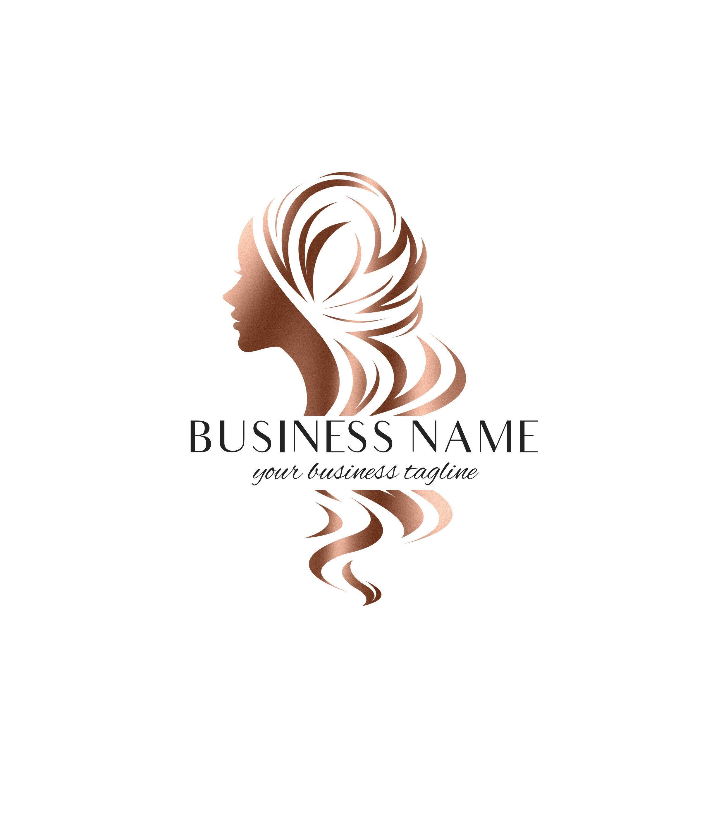 Hair Extensions Logo, Hair Logo, Wigs Logo Design, Hair