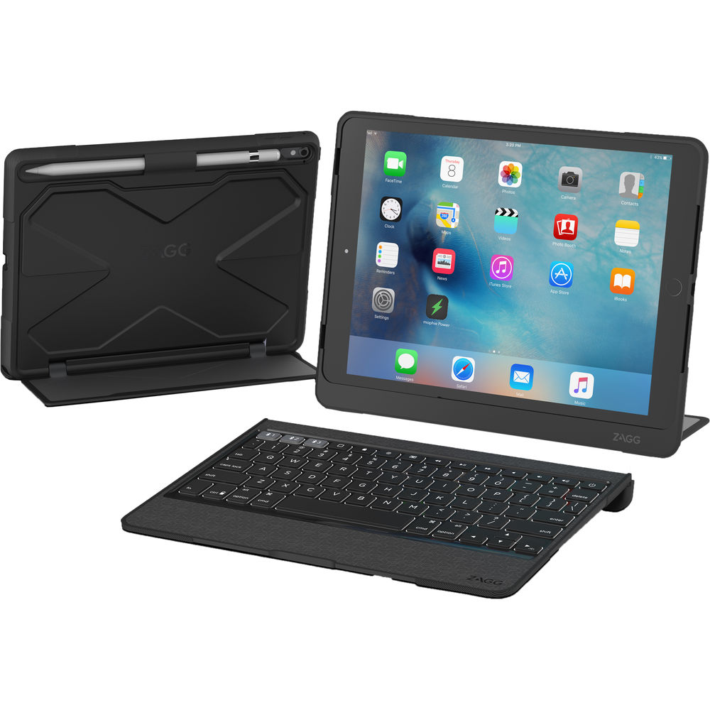 Zagg Slim Book Ultrathin Case Hinged With Detachable Bluetooth Keyboard For Apple Ipad Pro 9 7 Black Walmart Com In 2020 Apple Ipad Pro Ipad Pro Apple Ipad