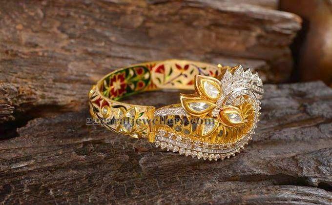 272118923ed03 Meena Work Diamond Bracelet | *My Beautiful Jewells* | Jewelry, Gold ...