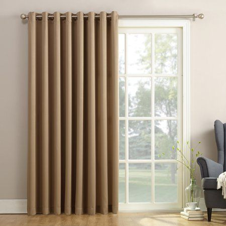 Sun Zero Bartlett Grommet Room Darkening Extra Wide 100 Patio Panel Walmart Com Door Coverings Patio Door Curtains Sliding Glass Door Curtains