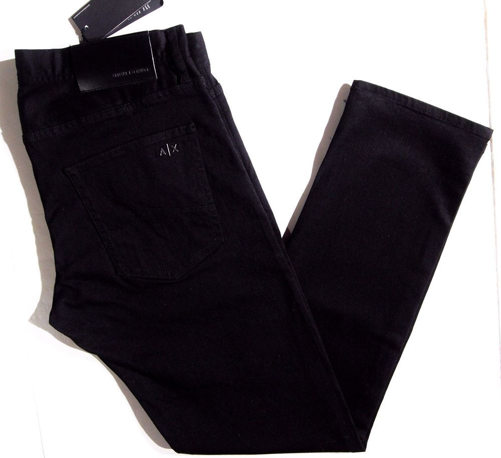 dd5e35ed Details about A|X ARMANI EXCHANGE NEW MEN'S SLIM FIT JEANS NWT BLACK ...