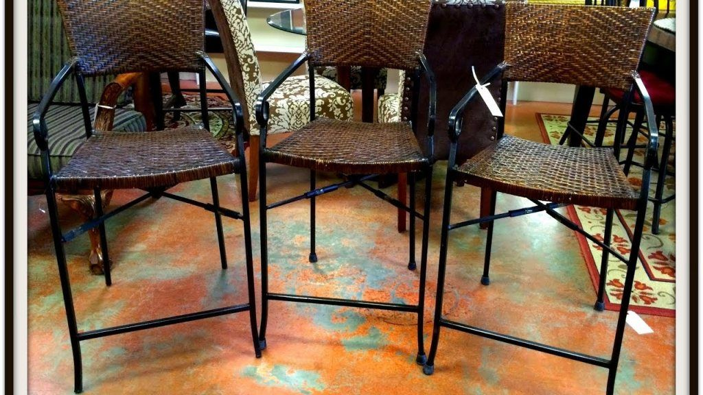 Interior: dark high end wrought iron bar stools from wrought iron