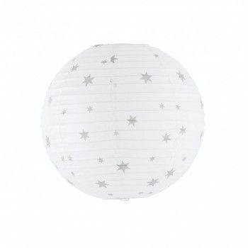 fly belletoile boule japonaise diam 35 cm blanc avec toiles grises chambre enfant. Black Bedroom Furniture Sets. Home Design Ideas