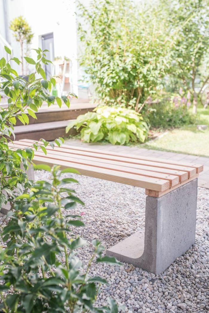 gartenwege gestalten kies sitzbank gartenpflanzen | Garten ...