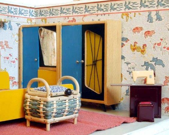 Puppenhäuser 50er 27 u2026 dollhouse Pinterest Dollhouses - schlafzimmer mit bettüberbau