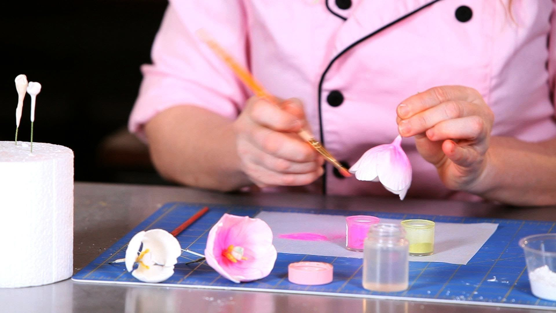 How to make sugar flowers tulips part 4 easy cake