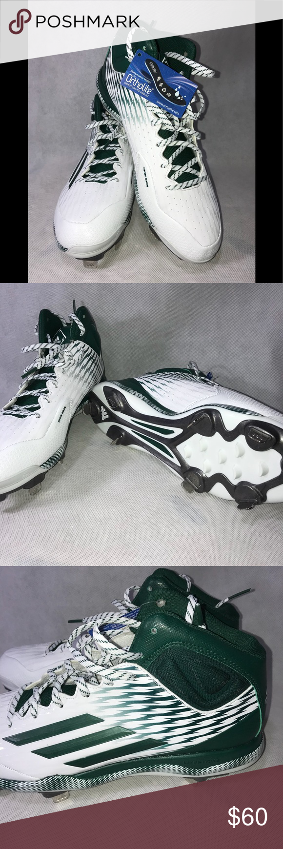 Adidas Baseball Cleats Adidas Baseball Baseball Cleats Adidas White Shoes