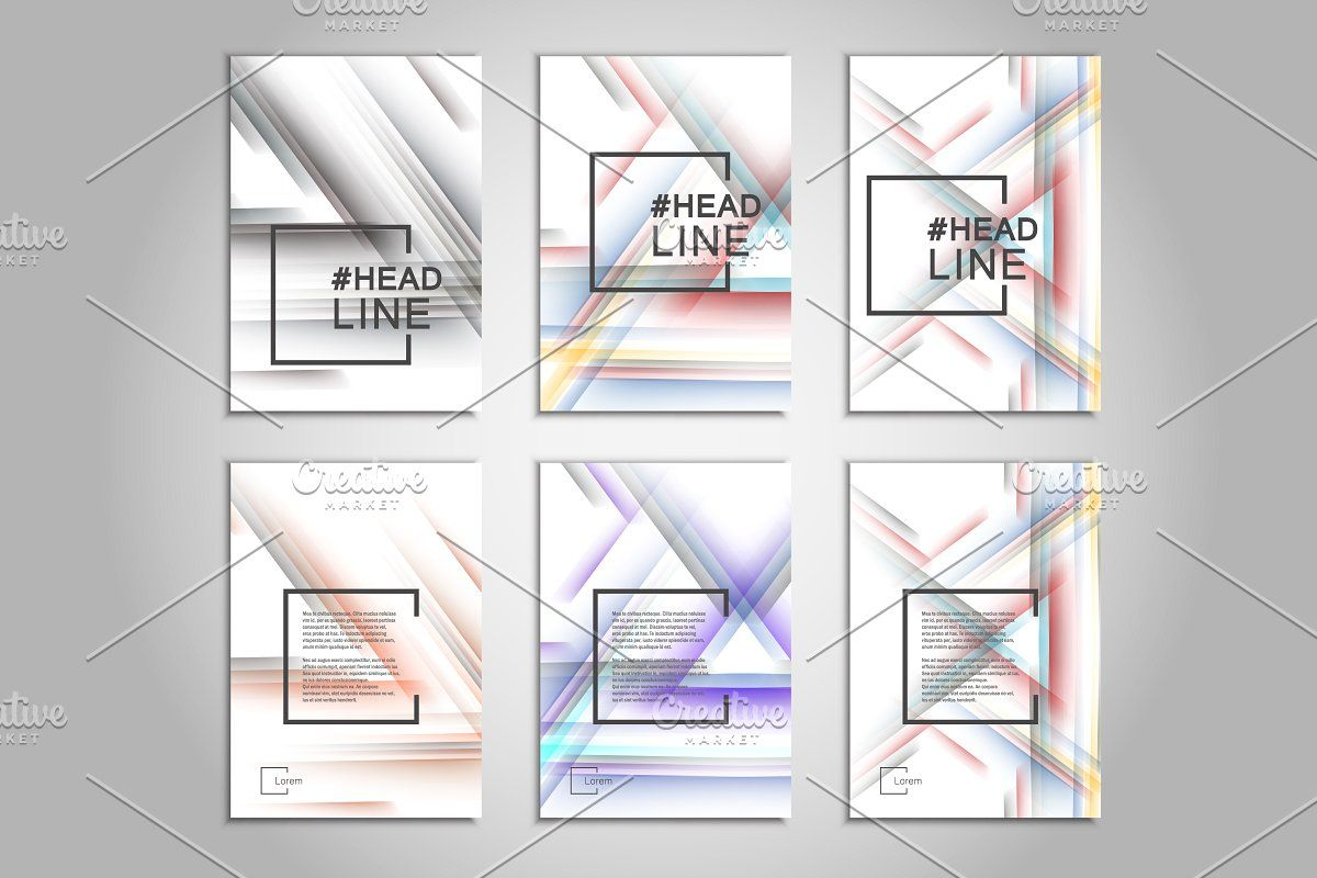 Abstract color line design template , #spon, #includes#set#files#vector #affiliate