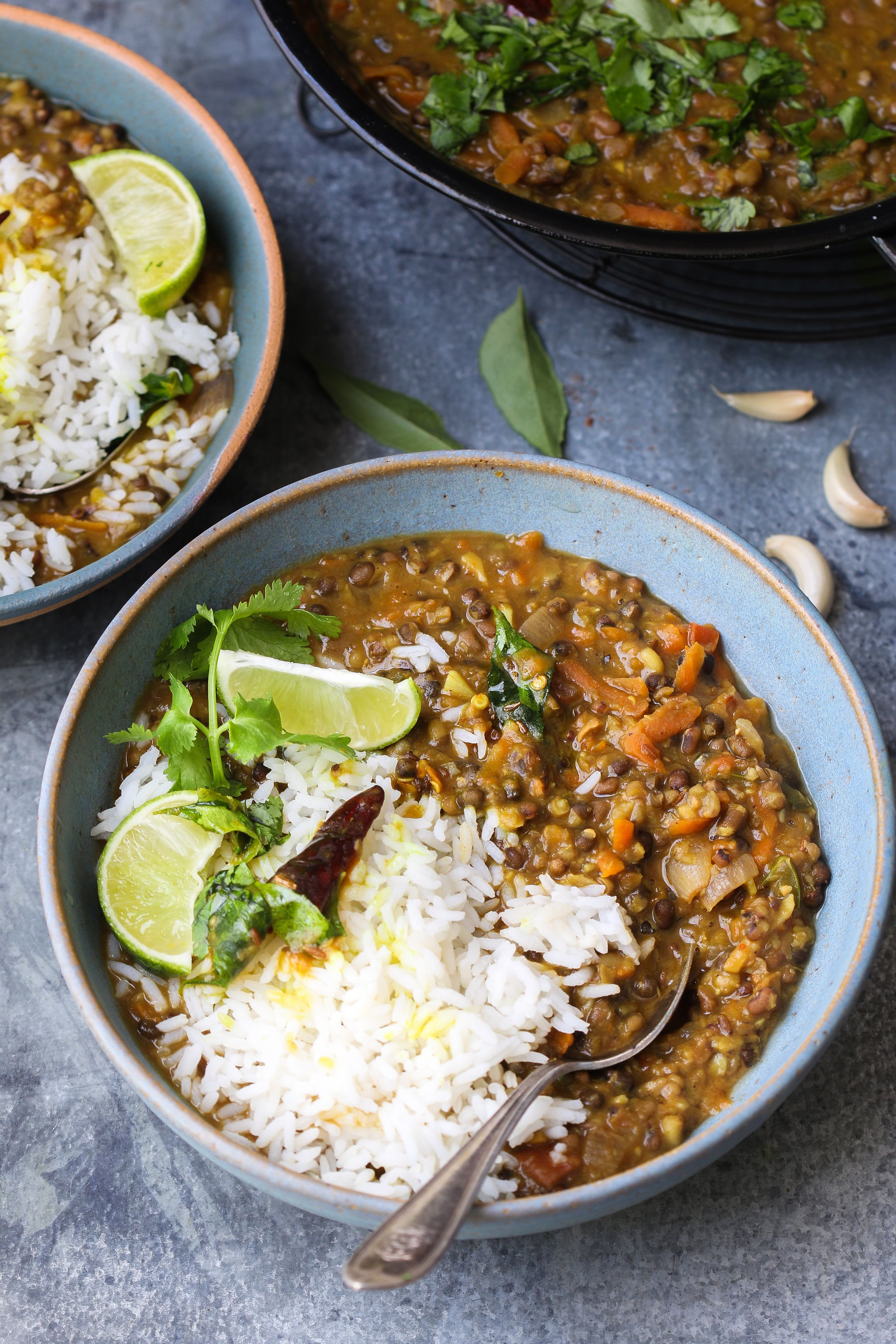 Homestyle Garlicky Teen Daal/ Three Lentils Curry | Recipe