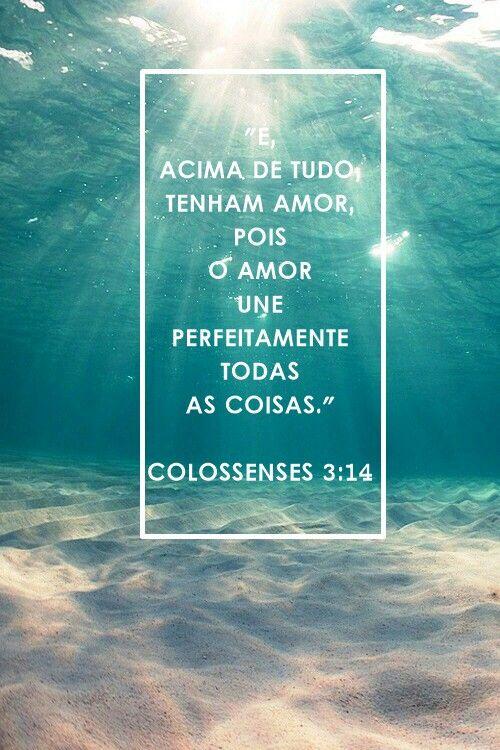 Colossenses 3 14 Colossenses 3 14 Palavra De Deus Palavras De Vida