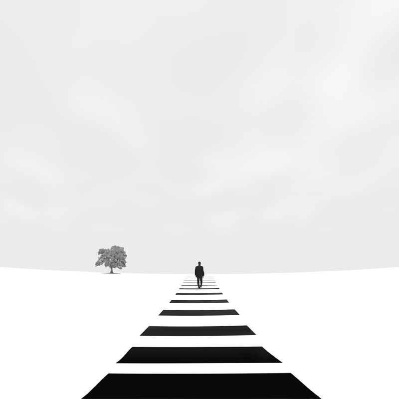 Black and white minimalism in hossein zares photography