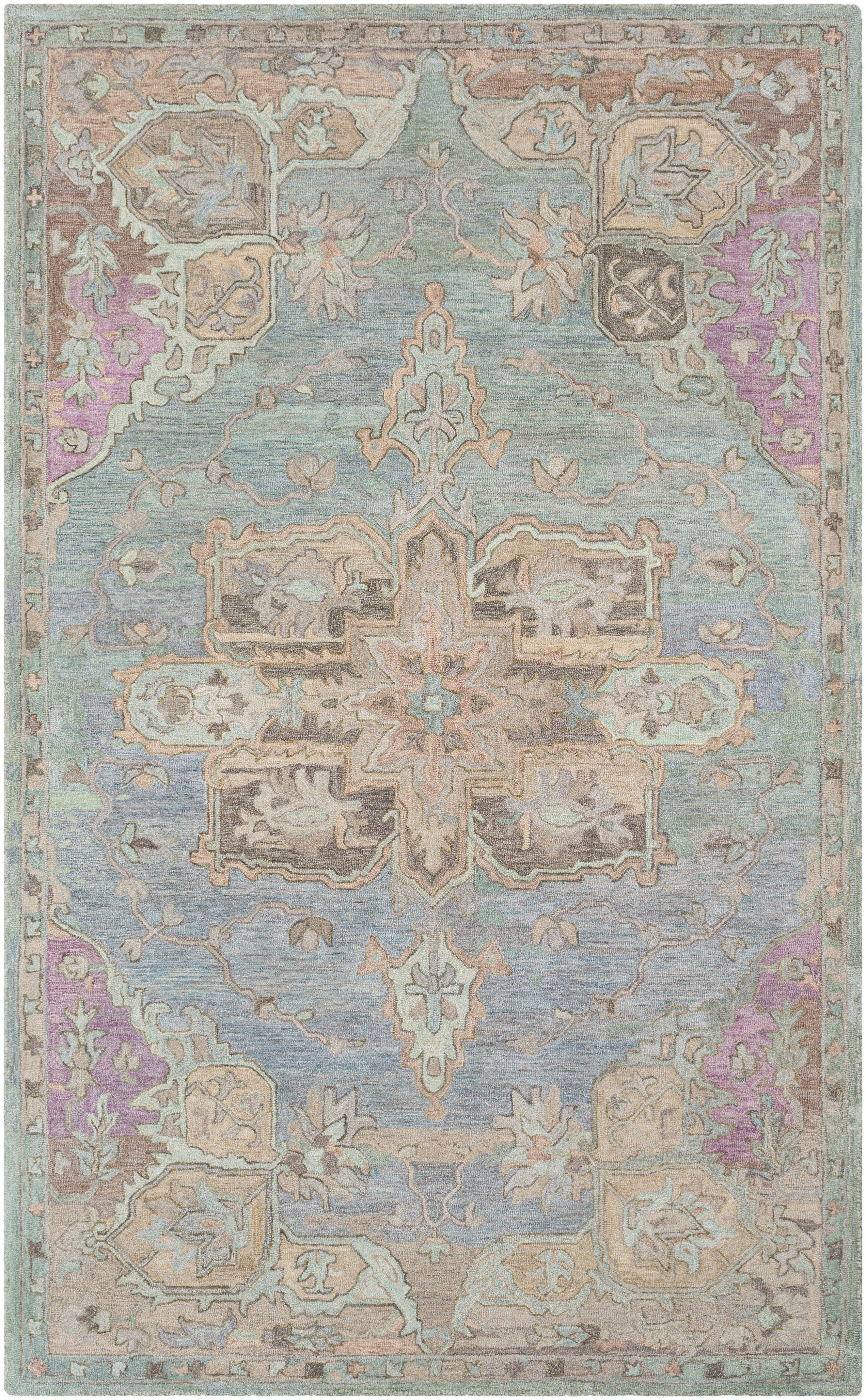 Surya Clic Nouveau Transitional Blue Csn 1010 Area Rug
