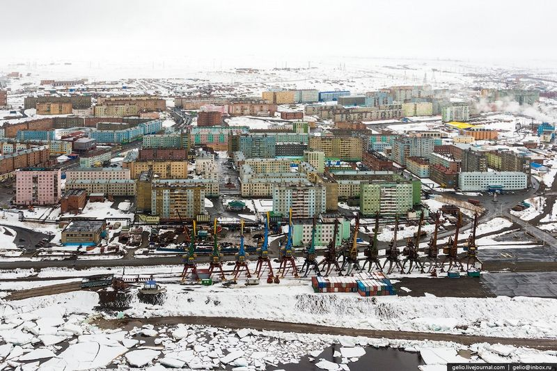 Biggest Northernmost Russian City From Above English Russia Page 4 Norilsk City City From Above