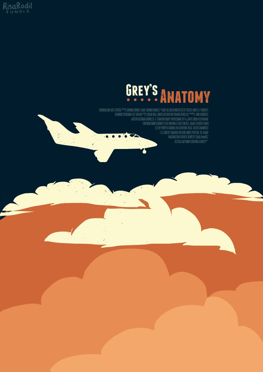Grey\'s Anatomy (2005–) ~ Minimal TV Series (Episode) Poster by Risa ...