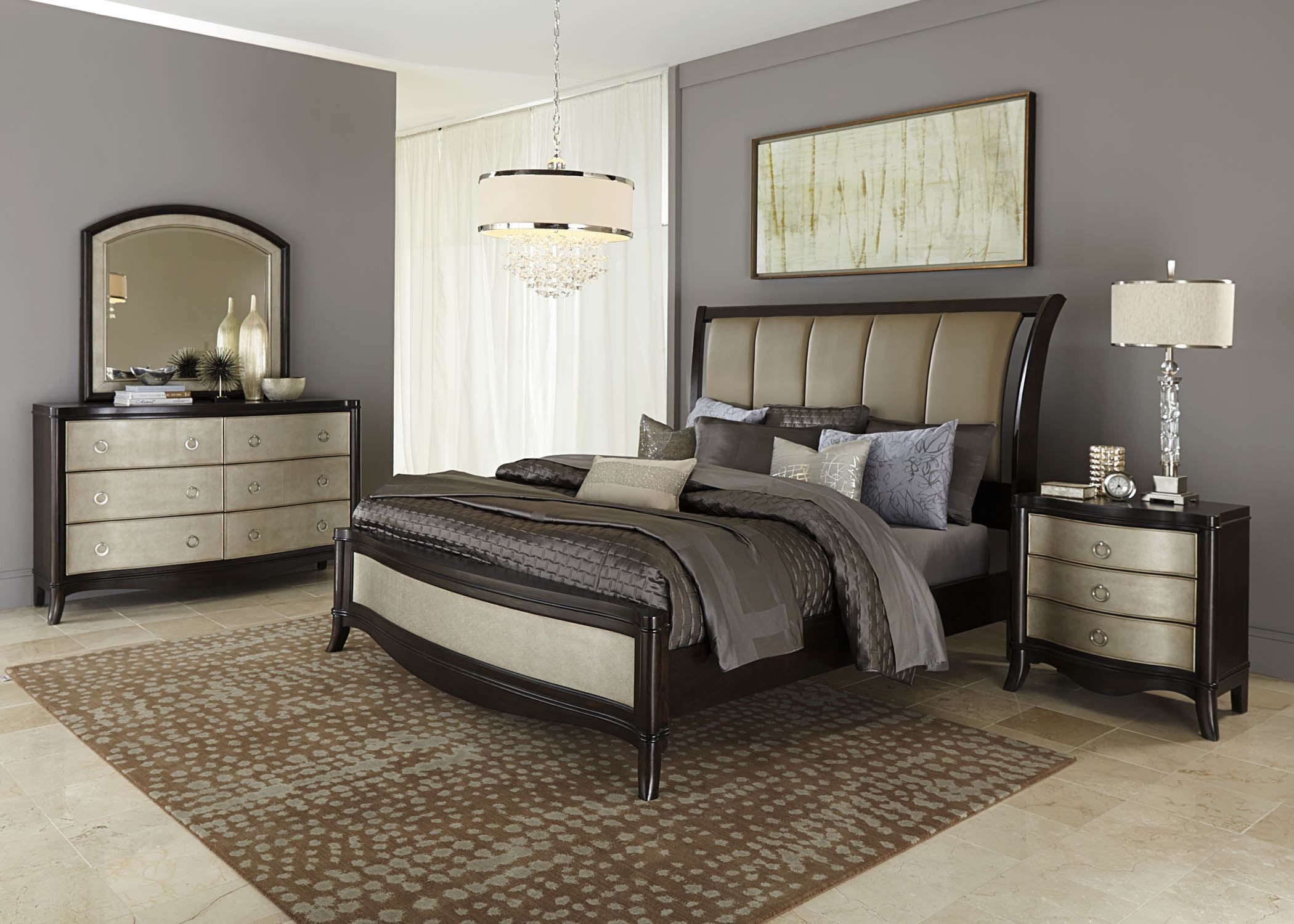 Sunset Boulevard Sleigh Bedroom Set
