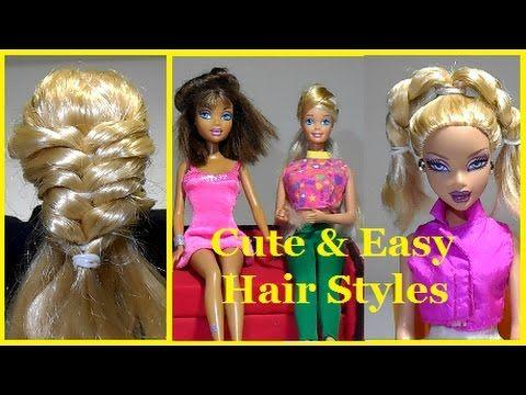 YouTube | Hair styles, Doll hair, Barbie hair