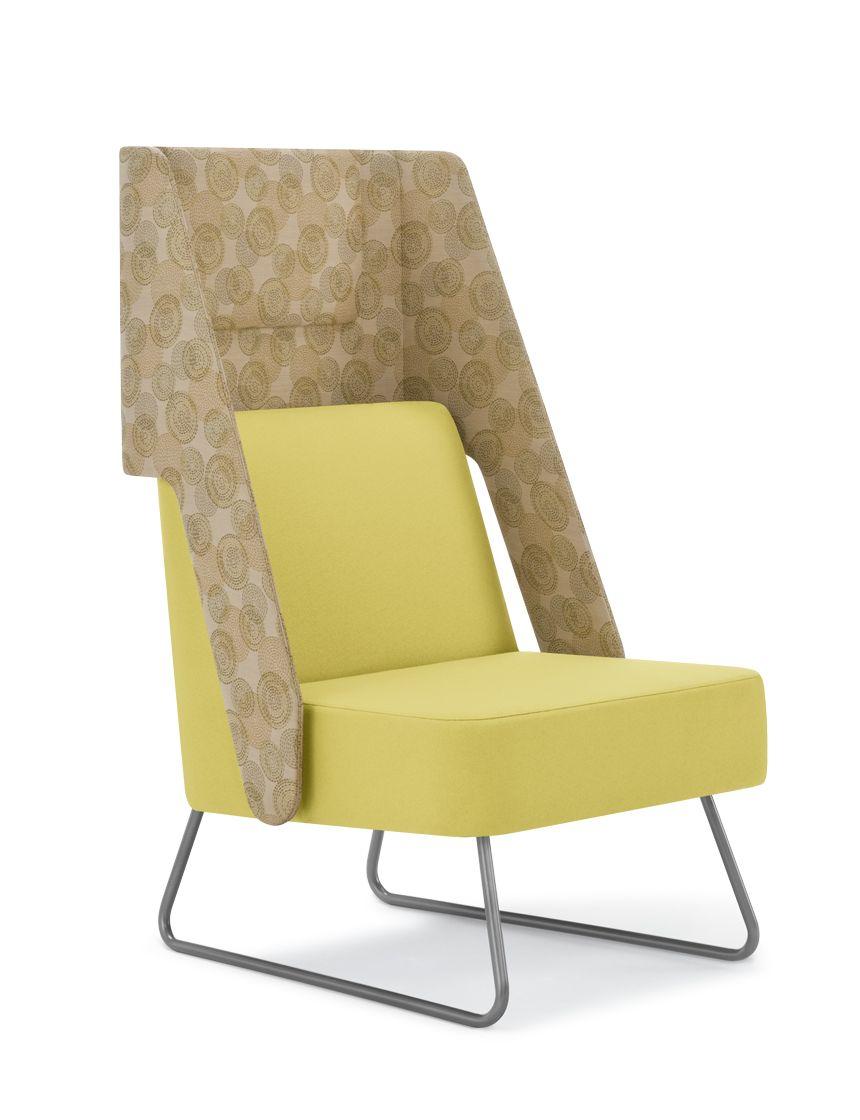 Visor Semi Private Lounge Chair, Sled Base | Furniture