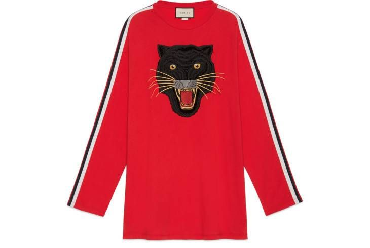 7a508ca37e7 Oversize cotton T-shirt with panther