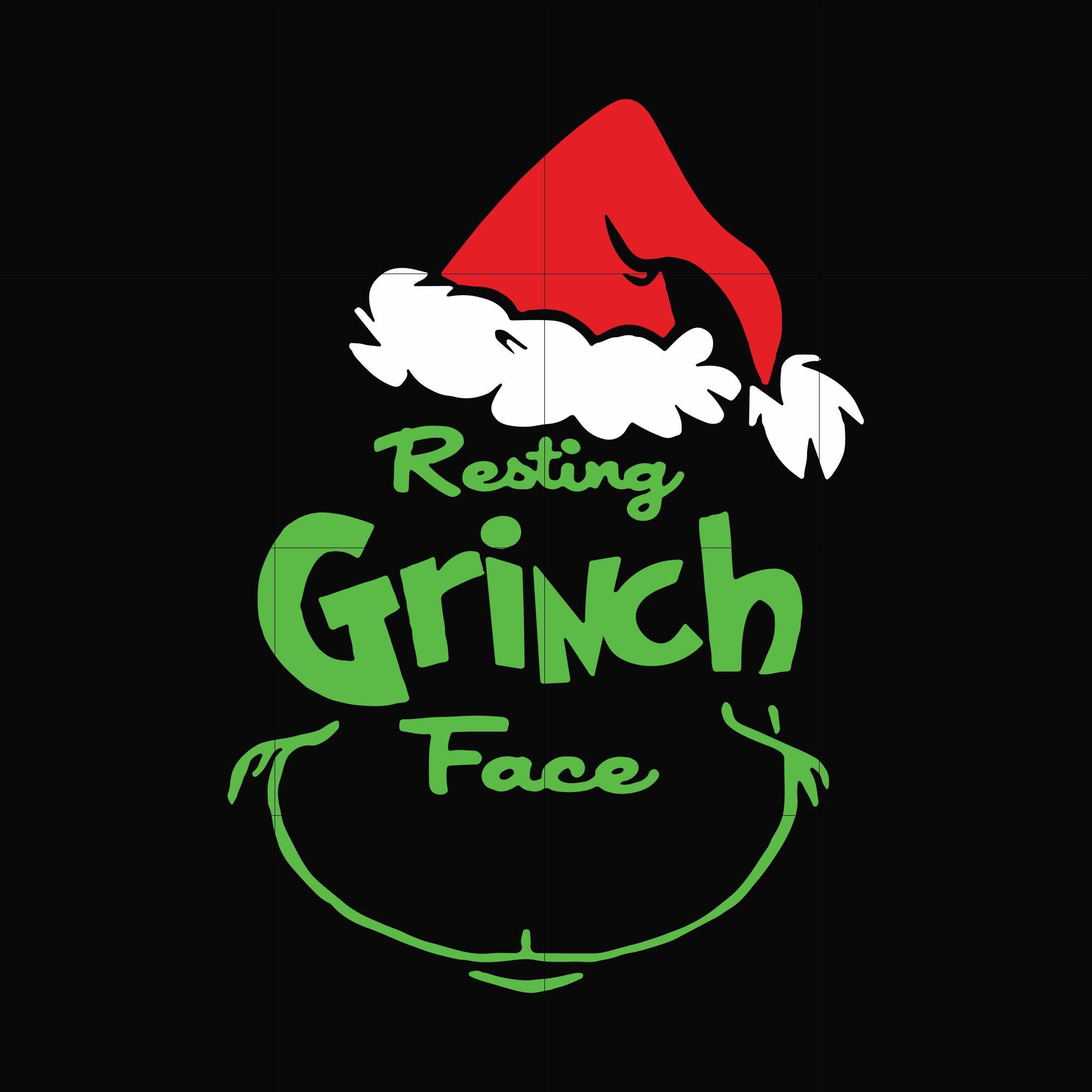 Resting Grinch Face Svg Png Dxf Eps Digital File Ncrm13072026 Grinch Face Svg Christmas Svg Svg